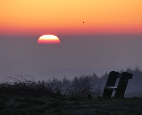 Seat in the sunrise