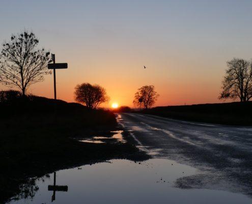 Sunrise on Otley Old Road